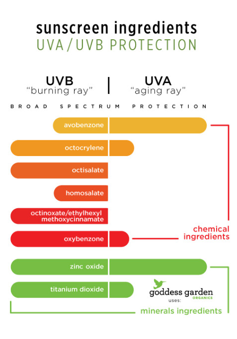 What sunscreen blocks UVA and UVB