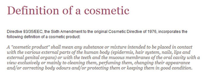 cosmetic definition ctpa