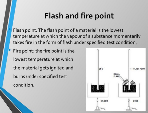 flash and fire point