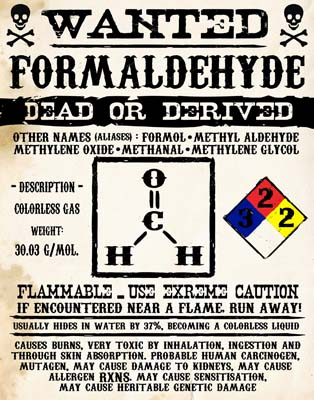 formaldehyde wanted