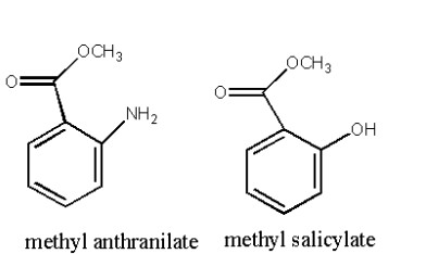 perfume ingredients methyl anthranilate and salicylate