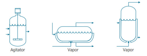 process flow diagram (PFD) agitator vapor