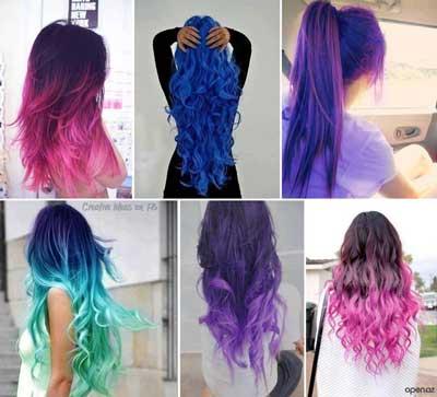 Image result for رنگ موهای شیمیای